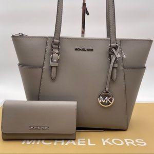 Michael Kors Charlotte Tote and Wallet Set